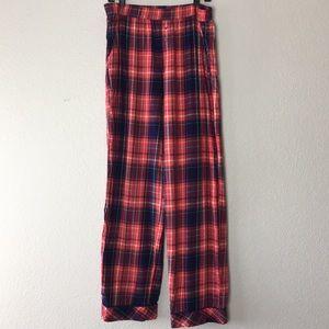 Victoria's Secret plaid long pajama pants bottoms